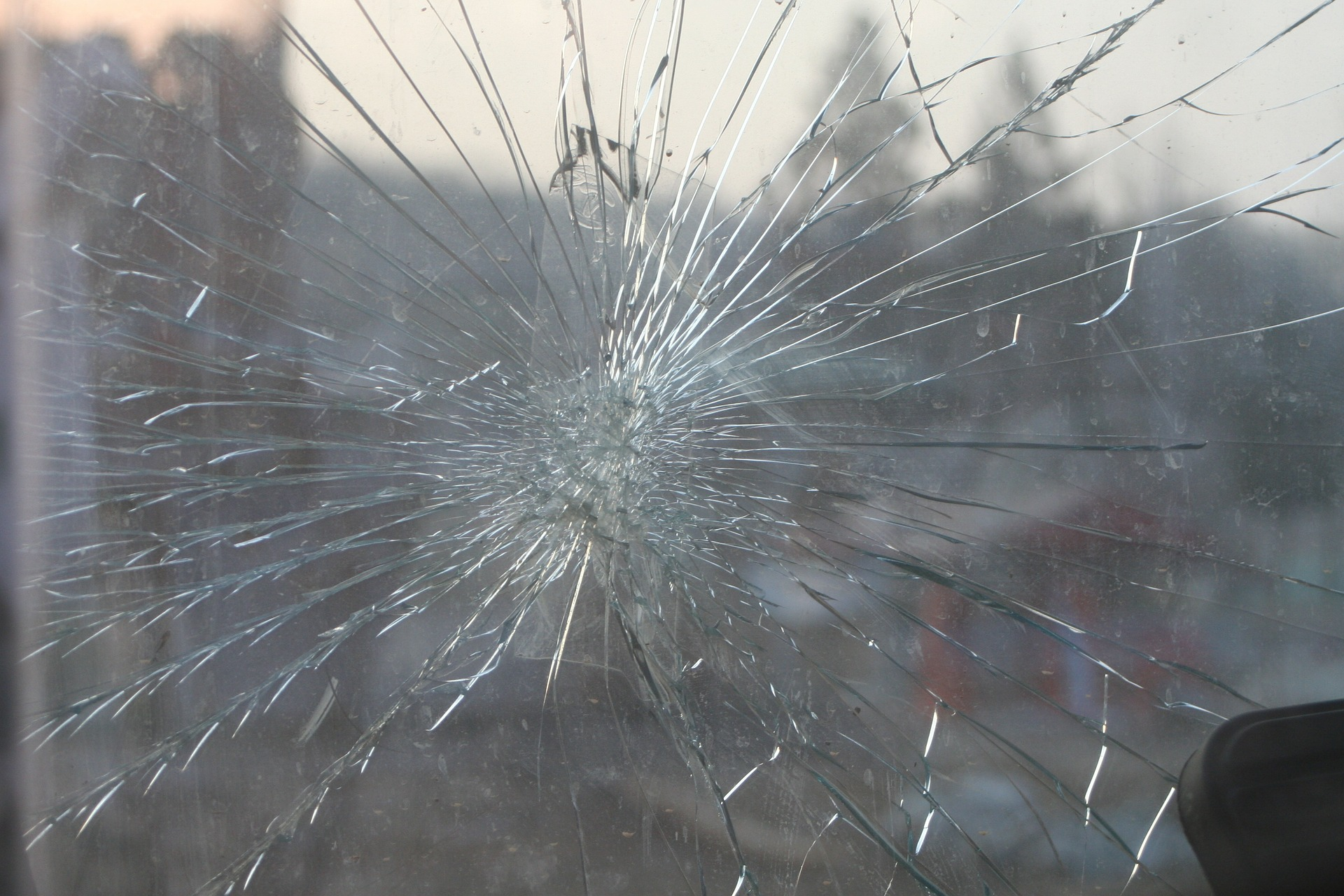 Broken windshield | cracked windshield | busted glass